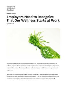 Wellness Starts at Work